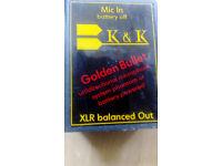 K&K Golden Bullet Pickup PLUS FREE Adjustable Bridge! PLUS FREE Piezo Pickup