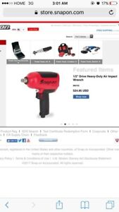 """1/2"""" Drive Deavy Duty Air Impact Wrench ( Snap On )"""
