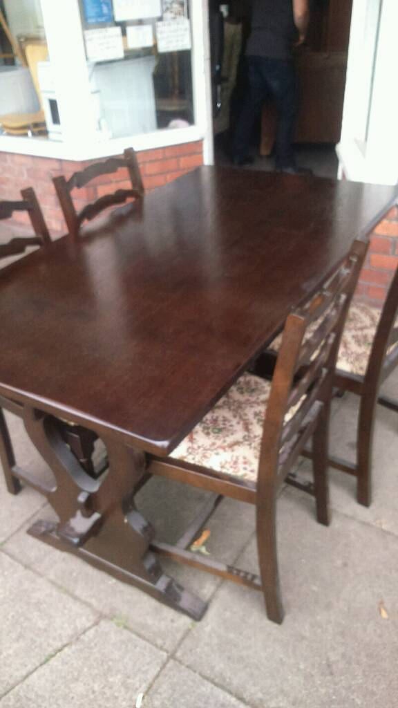 Sale Manchester 4500 Dinning Table And Chairs Solid Oak