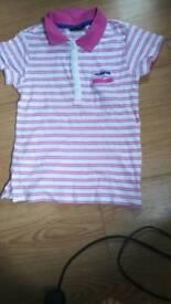 Girls/boys pimk striped top 8yrs