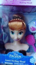 Frozen Anna styling head new