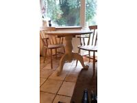 Soild pine table and 2 chairs £75 ono