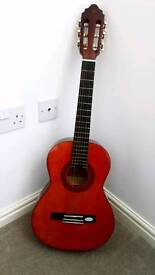 Classic guitar with case