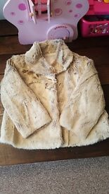 Girls fur Jacket / Coat ages 2-3 years