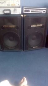 Carlsbro speakers with mixer