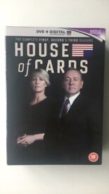 House of Cards Seasons 1-3 DVD