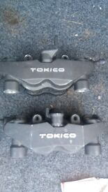 Tokico 4 pot calipers