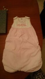 Baby Girl Pink Flower Sleeping Bag 0-6 Months Good Condition estimate 2 tog