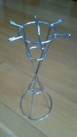 New, chrome circular stand. For hanging jewellery etc.