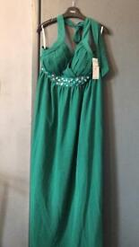 Green plus size prom dress