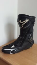 Alpinestars SMX Plus Boots Black Left 46 EU Right 45 UK New Toe Sliders Racing Leather Motorcycle