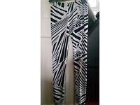 Black and white whacky leggings