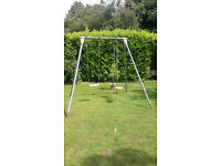 TP Double Giant Swing Frame complete with a Deluxe Swing Seat and Skyride.