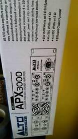 Alto 3000 watt 4 channel amp dj pa