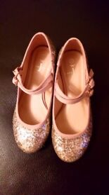Girls gold sparkle Jasper Conrany shoes Size 12