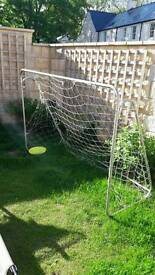 Football net. Net has hole