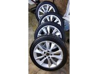 """Audi A3 17"""" Kinetic Alloy Wheels with good tyres"""