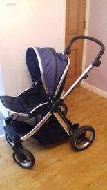 Oyster max pram single or double / maxi cosi car seat