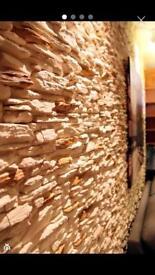 Wall Stone decor- not wallpapre!