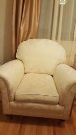 Cream armchair quick sale £35
