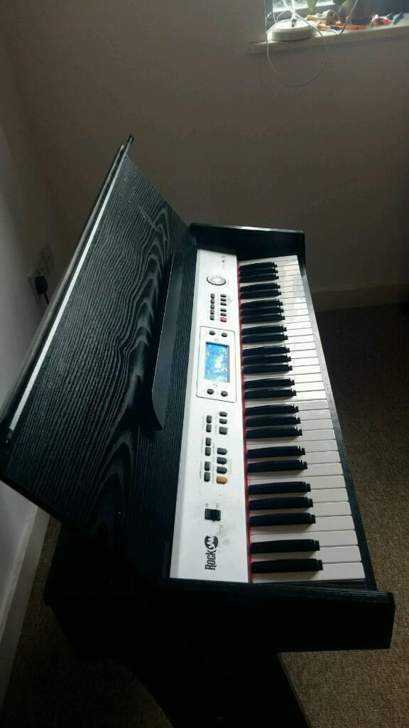 Rock Jam 818 Upright Piano 61 Touch Sensitive Keys