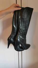 River island ladies leather boots size 39 size 6