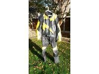 Frank Thomas 2 Piece Motorcycle zip together leathers. Size UK 46