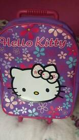 Hello Kitty pull along luggage/ trolly
