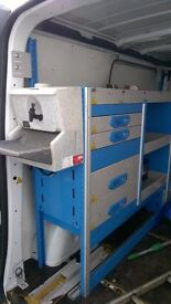 vivaro metal racking working wash hand sink locking drawers like new vgc