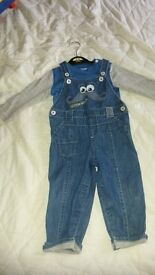 9-12m dungarees