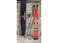 Ski's boots and bag's