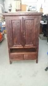Oak cupboard tv unit