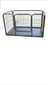 BUNNY BUSINESS Heavy Duty Dog Cage Crate Whelping Pen with Welded Side Pins