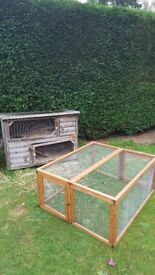 Rabbit/Guinea pig double hutch and run.