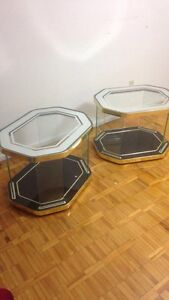 MOVEOUT SALE! Glass side tables (2).