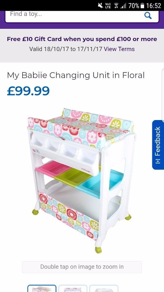 Baby changing unit with bath , 6 months old barely used excellent condition