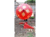 Decorative chinese-style parasols
