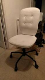 White Ikea office swivel chair