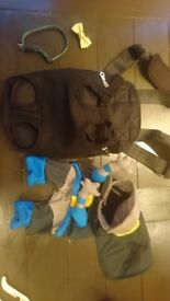 Puppy pack, dog, carrier, training pads, training tray, dress-up, collar, bowtie,