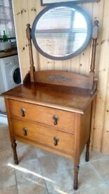 Antique dressing table solid oak