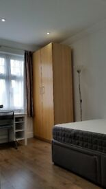 Excellent double room with double bed for single use available right now
