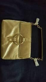 Cute little gold handbag brand new