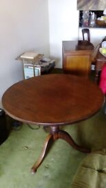 Antique Regency Solid Mahognany Tilt Top Table CASH Offers Invited City of London