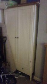 White and pine wardrobe £70 ono