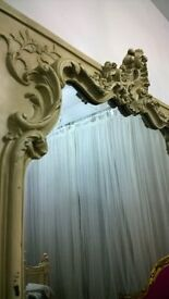 Large Huge Quality Louis Baroque Rococo Floor Mirror Off White Frame French Shop Display