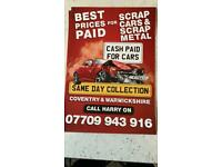 Scrap cars bought for cash!! 07709 943916