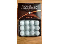 Box of 12 Titleist Pro V1 Golf Balls in Pearl condition, no scuffs.