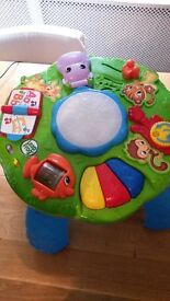 Leapfrog activity play, encourages standing up. Legs are also removeable