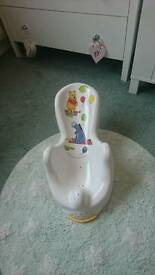 Baby bath seat. Winnie the pooh and Eeyore.