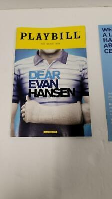Dear Evan Hansen Playbill Original Broadway Cast 2017 Ben